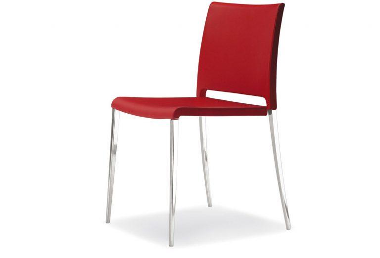 Stolička červená Pedrali MYA 700