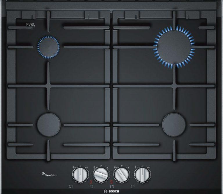 Sklokeramický plynový varný panel Bosch PRP6A6D70 s FlameSelect
