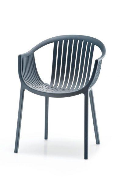 Pedrali TATAMI stolička tmavo sivá