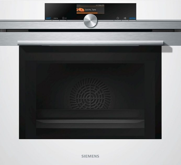 Zabudovateľná biela rúra na pečenie Siemens HB 675G0W1F