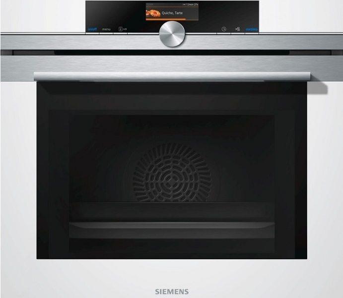 Zabudovateľná kompaktná biela parná rúra Siemens CD 634GBW1
