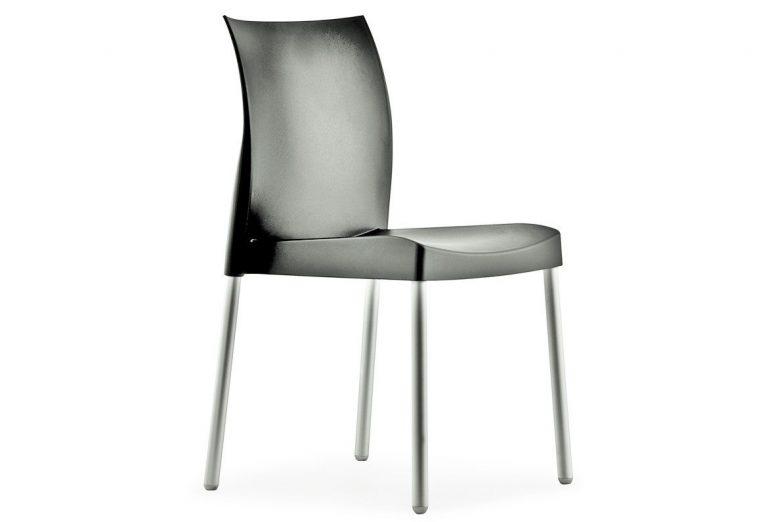 Stolička tmavo sivá Pedrali ICE 800