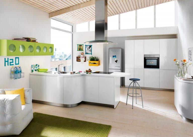 Biele kuchyne Gala série Crystal White