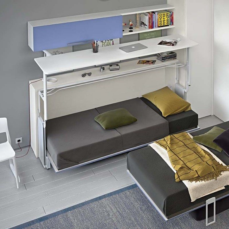 miu multifunk n poste s pracovn m stolom clever inspire design. Black Bedroom Furniture Sets. Home Design Ideas