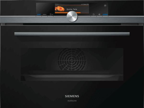 Zabudovateľná rúra s parnou funkciou, SIEMENS iQ700 čierna CS858GRB6_INSPIRE_DESIGN
