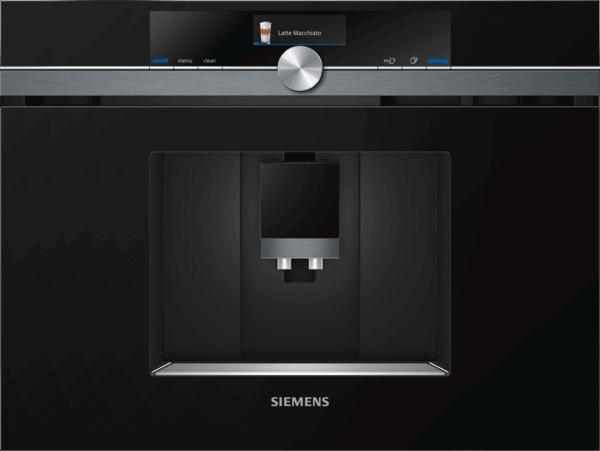 Zabudovateľný plnoautomatický kávovar s Home Connect, Siemens iQ700 CT836LEB6