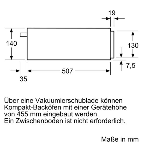 Vákuovacia zásuvka pre Sous-vide SIEMENS iQ700 BV830ENB1