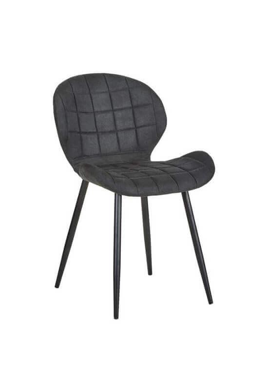 Štýlová stolička - čierna | kov | textil
