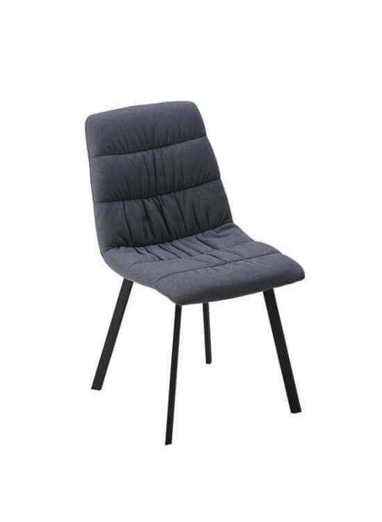 Jedálenská stolička - šedá | kov | textil