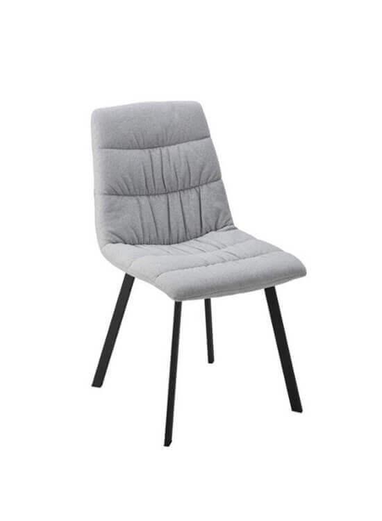 Jedálenská stolička - svetlošedá | kov | textil