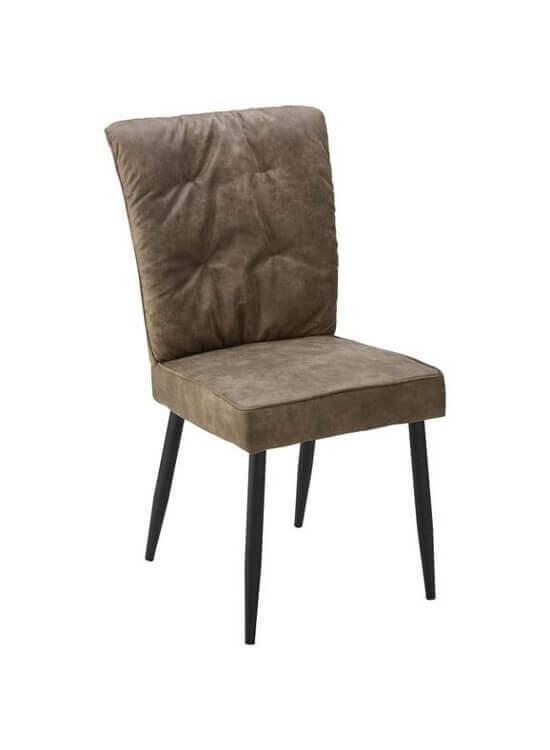 Kuchynská stolička - hnedá | kov | textil