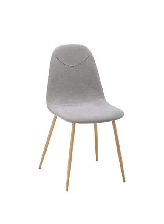Stolička - šedá | kov | textil
