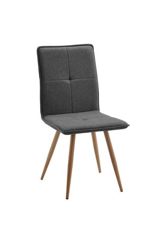 Stolička - Tmavo-šedá | drevo | textil
