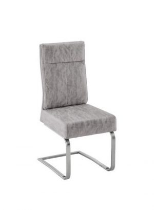 Stolička - béžovo sivá | chróm | textil