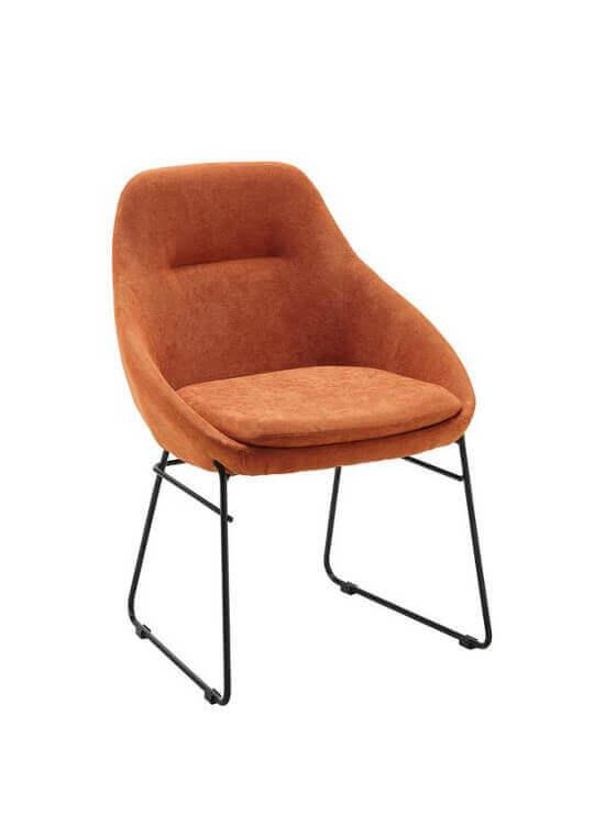 Stolička - oranžová | kov | textil