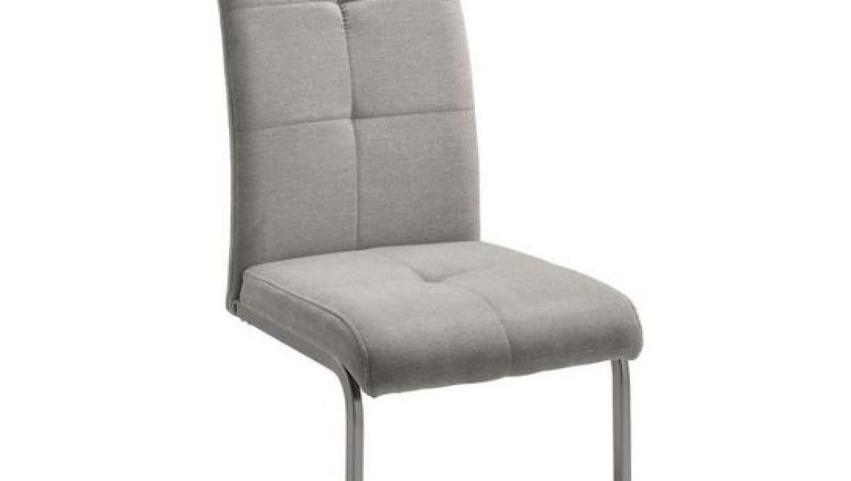 Stolička - piesková | chróm | textil