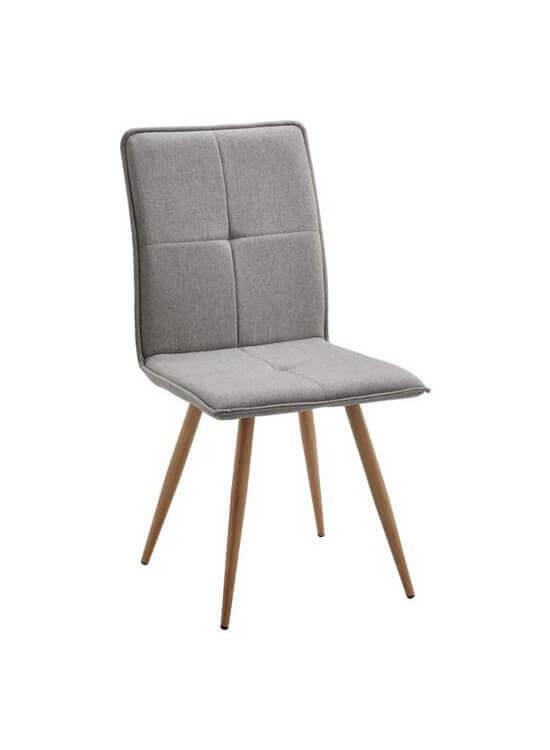 Stolička - svetlošedá | drevo | textil