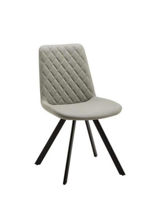 Stolička - svetlošedá | kov | textil