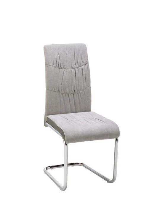 Stolička - svetlo sivá | chrom | textil