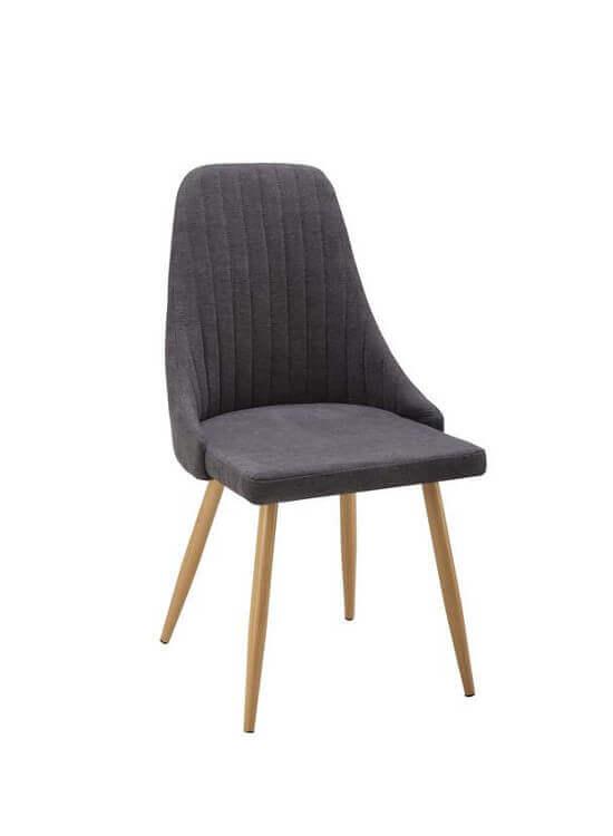 Stolička - tmavošedá-fialová | drevo | textil