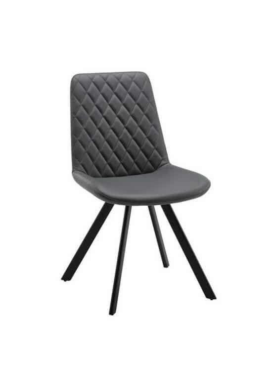 Stolička - tmavošedá | kov | textil