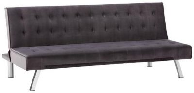 Moderná rozkladacia sedačka | tmavosivá | zamat