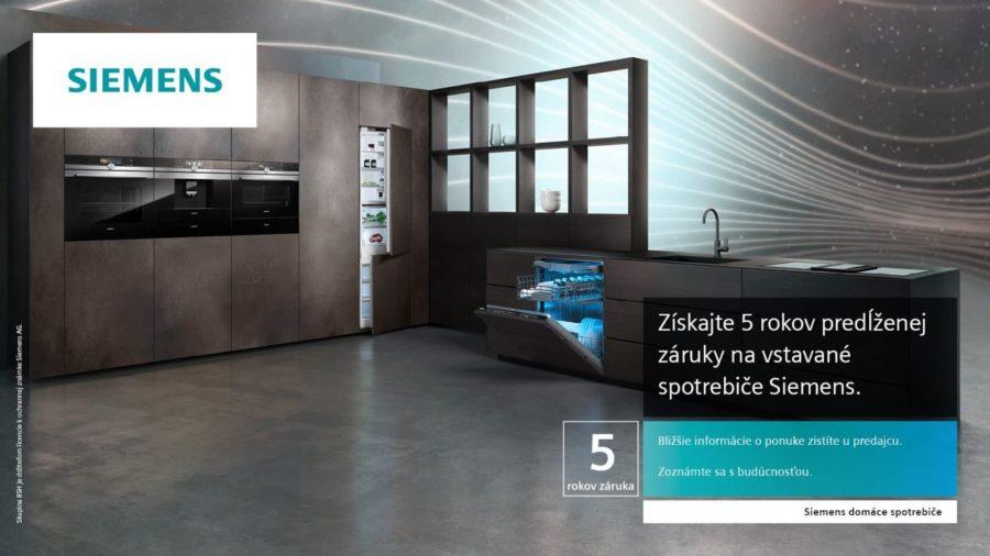 Spotrebiče Siemens s technológiou Home Connect a predĺženou 5 ročnou zárukou v inspire design