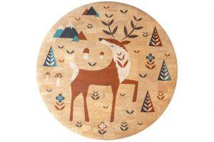 Detský korkový koberec Deer | 130 cm