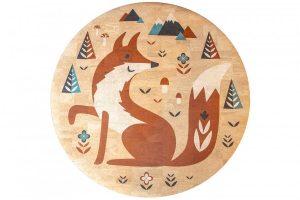 Detský korkový koberec Fox | 130 cm