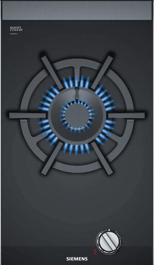 Domino plynová varná doska 30 cm sklokeramika | čierna ER3A6AD70