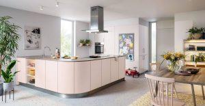 Kuchyňa BIELLA - Neformálna a ľahká - kuchyňa v ružovej farbe | schuller C